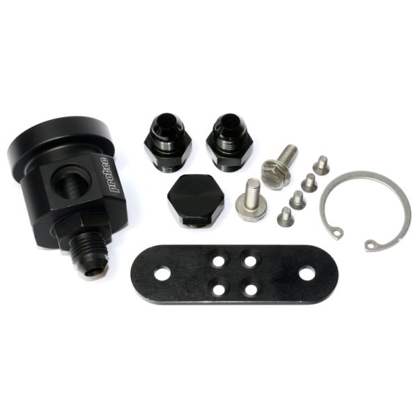 4 Way Housing for VAG Type Capsule, Including 3 bar regulator, Fittings, Bracket, Black 13518