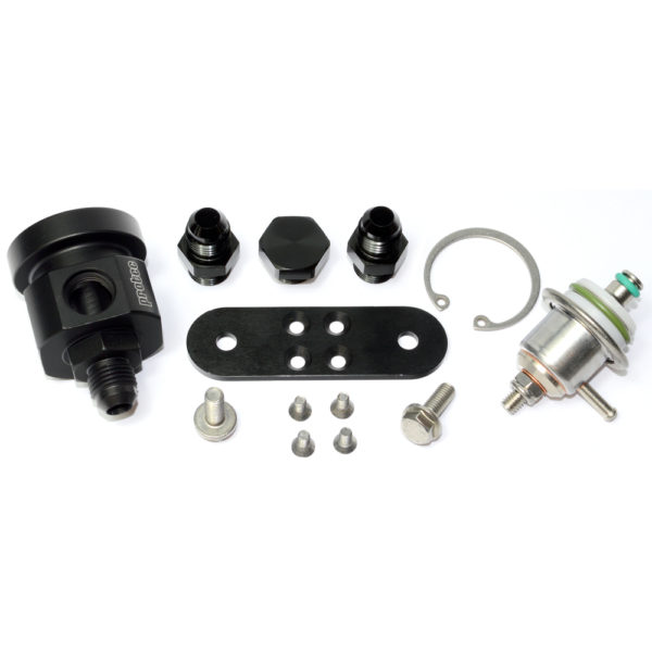 4 Way Housing for VAG Type Capsule, Including Adjustable 1-6 bar Regulator, Fittings, Bracket, Black 13513