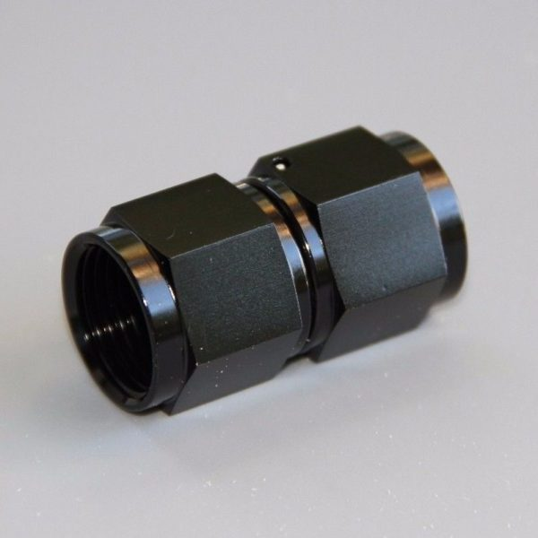 Adaptor, AN-8 to AN-8, Female-Female, Black 15852