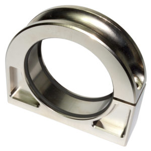 Billet Pump Mount Double O ring 60mm ID Flat Bottom 90075
