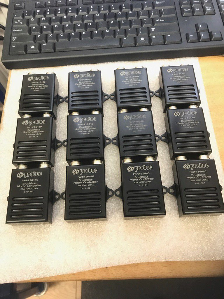 Fresh batch of remote controllers for our brushless pumps.